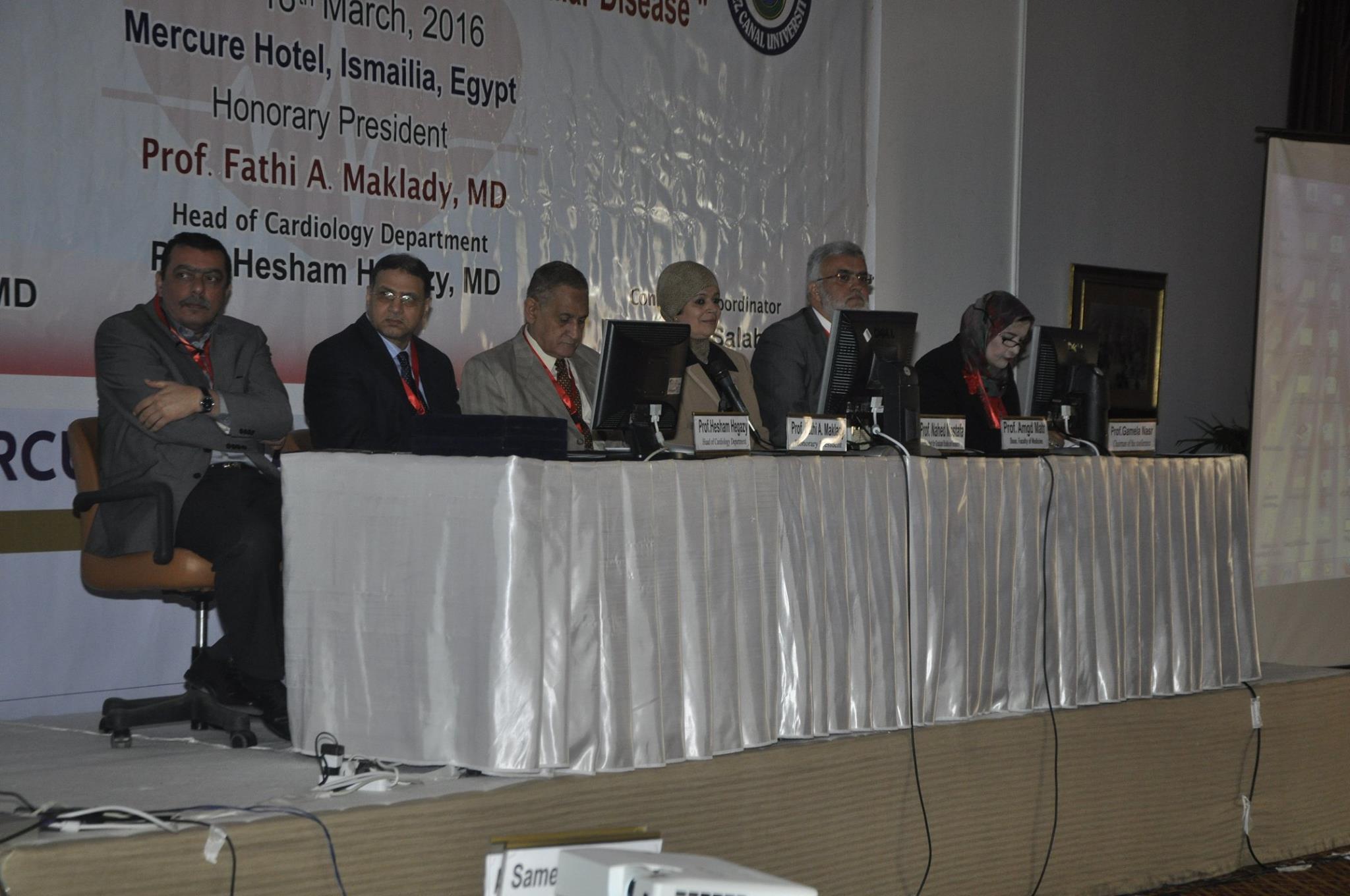 بالصور | افتتاح مؤتمر قسم القلب والأوعية الدموية لكلية الطب جامعة قناة السويس