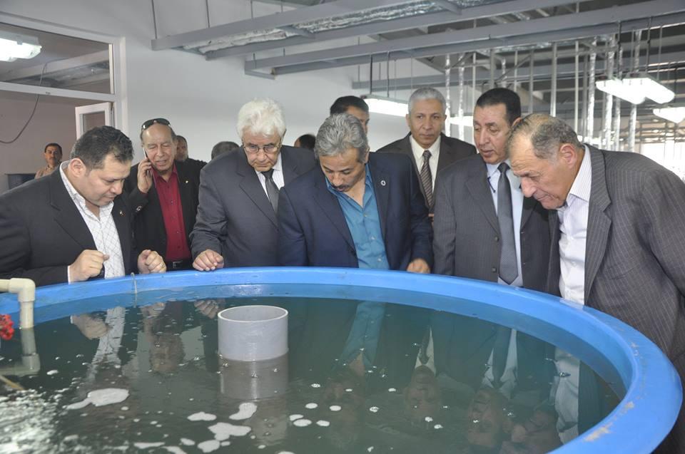 لجنة قطاع كليات التربية الرياضية بالأعلى للجامعات في زيارة لجامعة قناة السويس