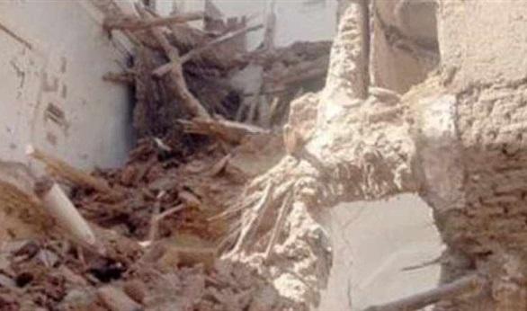 هبوط منزل من 3 طوابق واختفاء الدور الأول تحت سطح الأرض بالدقهلية