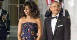 حكاية فستان ميشيل أوباما على هامش لقاء أوباما ورئيس الوزراء الكندى