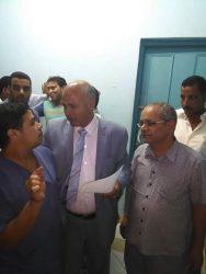 وكيل وزارة الصحة ببنى سويف فى زيارة مفاجأة لمستشفى سمسطا المركزى