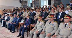 """الرئيس """" السيسي""""  يشهد الإحتفال بتخريج الدفعة (153) متطوعين من معهد ضباط الصف المعلمين بالقوات المسلحة"""