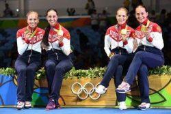 الجميلات على منصات التتويج فى أولمبياد ريودى جانيرو