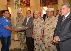 صبحى وعبد الغفار يتفقدان عناصر القوات المسلحة والشرطة بشمال سيناء
