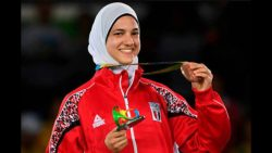 هداية ملاك تحقق رقما قياسيا لمصر بإحرازها الميدالية البرونزية للتايكوندو في أولمبياد ريو دي جانيرو