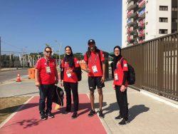 وصول المنتخب المصري للتايكوندو الي القرية الاولمبية