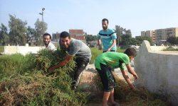 انطلاق فاعليات حملة تطهير المقابر من الحشائش بحوش عيسى محافظة البحيرة