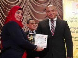تكريم الصحفى أيمن أيمن حمدان والصحفيه  عبير إمام عطيه ضمن مهرجان أوسكار إيجيبت3
