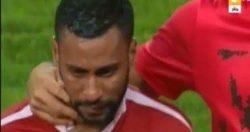 حسام عاشور يبكى بحرقة بعد خسارة الكأس أمام الزمالك