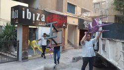 حملة اشغالات مكبرة بعدة شوارع بنطاق الحي