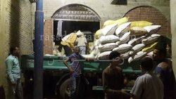 مباحث تموين والأمن العام بالدقهلية يضبطون عشرات الأطنان من الأرز في قرية العصافرة بمركز المطرية
