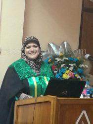 """تهنئة وتبريك بمناسبة حصول """" الباحثة إيمان عبدالله""""  على درجة الماجستير"""