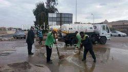 جهود مستمرة لشفط ورفع المياه من شوارع الجيزة