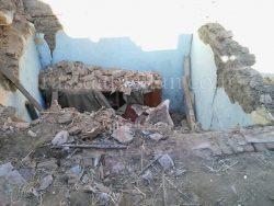 بالصور….انهيار سقف منزل بمدينة بيلا كفر الشيخ