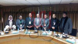 الوفد الإعلامي العراقي يزور مقر اتحاد الصحفيين العرب