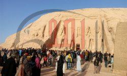 """بالصور .. 3وزراء""""الاثار و السياحة والثقافة""""يشاهدون تعامد الشمس على وجه رمسيس"""