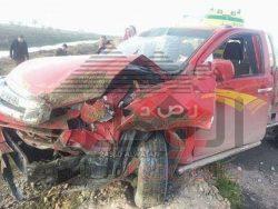 بالصور…حادث مروع على كوبرى الرافد- بلطيم أسفر عن اصابة 13 شخص ووفاه شخص بكفر الشيخ