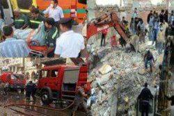 انفجار ضخم بالجيزة يتسبب في انهيار عقار ومقتل واصابة 10 مواطنين
