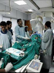 إنقاذ مريض من خلال عمل قسطرة بلونة أورطية بمستشفى الباطنة التخصصي بالمنصورة