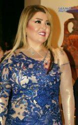بالصور النجمه مها أحمد أبرز الحضور بإطلالتها المتميزة الزرقاء الجديده