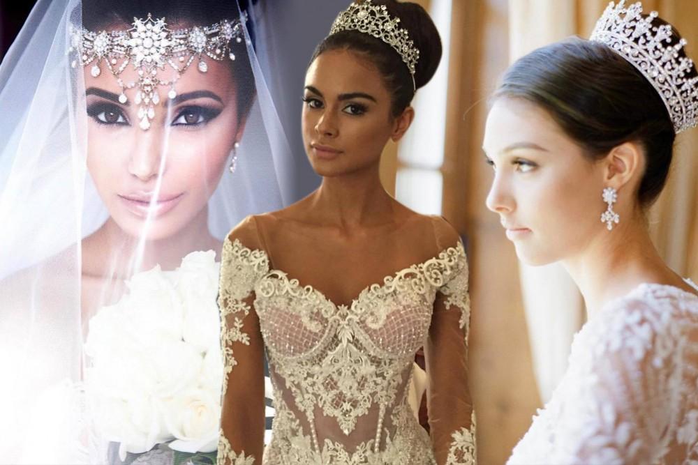 4f5a3a4aaddd3 » تيجان العروس لإطلالة حالمة كالملكات بأحدث صيحات الموضة لــ2017