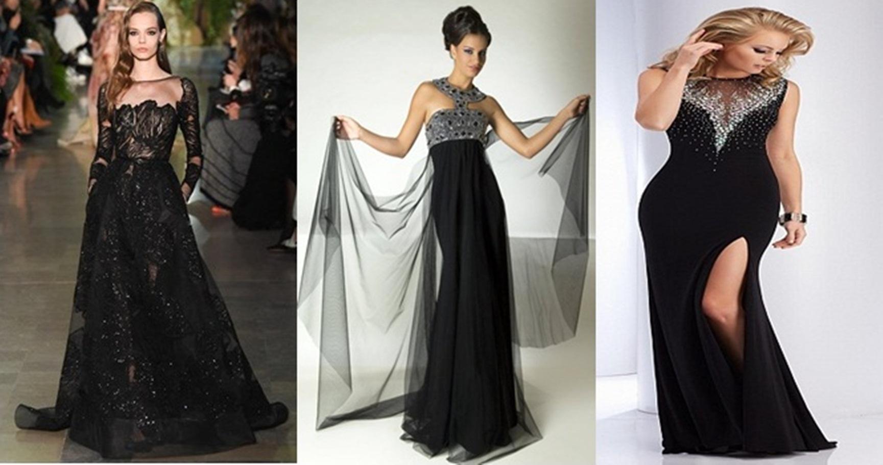 8a12292ed تألقي بجاذبية الملكات مع فستان السهرة بأناقة و سحر اللون الأسود أنوثة لا  تنتهي