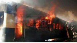 إنقاذ ركاب قطار السويس من الموت بعد اشتعال النيران في إحدى عرباته بالإسماعيلية
