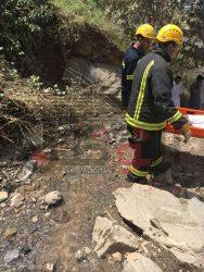 إصابة شاب سعودى جراء سقوطه من أعلى منطقه جبلية صخرية بالسعوديه
