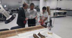 المستشار الثقافى الصينى بالقاهرة يتفقد المتحف الكبير