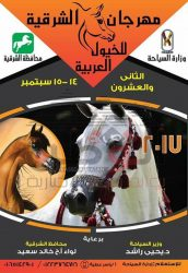 إنطلاق مهرجان الشرقية للخيول العربية الأصيلة في دورته الــ (22)