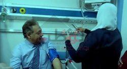 وزير الصحة بين جهاز الضغط وممرضة القليوبية