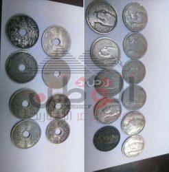 بالصور…ضبط عدد من العملات الأثرية قبل تهريبها بحرآ