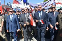 جامعة سوهاج تشارك في مسيرة حاشدة ضد الارهاب