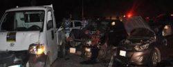مصرع 4 مواطنين و إصابة 16 آخرين بحادث تصادم على الطريق الصحراوى الشرقى بسوهاج