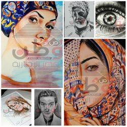 """بالصور…"""" إسلام طارق """"يبدع فى رسم اللوحات الفنية بأقلام الرصاص والفحم و ألوان الخشب"""