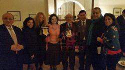 تكريم الكاتبة الصحفية اللبنانية ابتسام غنيم و الكاتب كرم النجار بنادي ساويرس