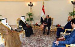 السيسي يستقبل رئيس مجلس الأمة الكويتي بقصر الاتحادية