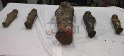 مباحث شرطه قسم طهطا تعثر على خمسه تماثيل اثريه بصندوق داخل بدروم
