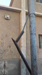 ضبط مخالفة….عمود كهرباء به ضغط عالى يهدد حياة المواطنين بقرية الصلعا بسوهاج