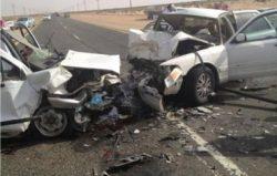 مصرع شخصان وإصابة أخر بحادث تصادم بالطريق الصحراوى بسوهاج