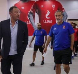 افتتاح مميز لمدرج التتش وغرف ملابس فريق النادي الاهلي