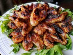 اجنحة الدجاج المشويه بطعم شهي ولذيذ للشيف سارة رجب