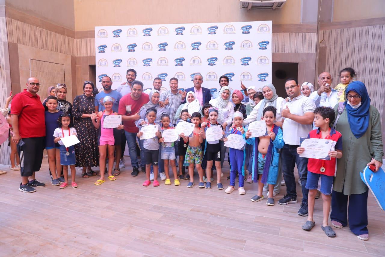 تكريم الفائزين في مسابقة اليوم التنافسي ل swimn academy