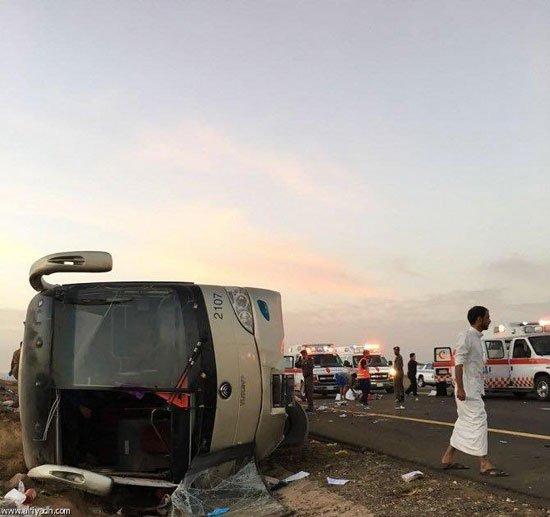 """تصريح السفير """"هشام النقيب"""" مصرع 19 معتمراً مصرياً فى حادث إنقلاب حافلة بطريق """"مكة-المدينة"""""""
