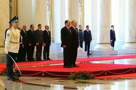 الرئيس يستهل زيارته لكازاخستان بلقاء الرئيس الكازاخي