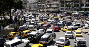 Traffic jams are now a common scene. There are more thatn 400,000 vehicles on the roads in Kabul.